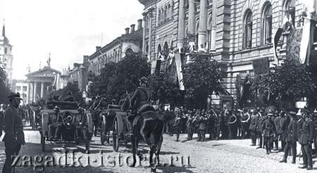 Армия Литвы входит в польский Вильно