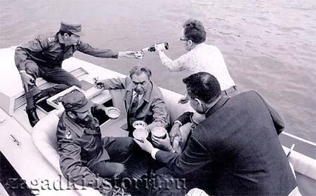 Брежнев с Кастро на рыбалке