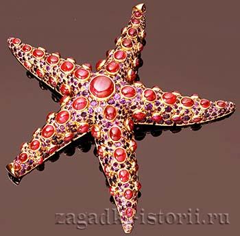 Брошь «Морская звезда» ювелирного дома Rene Boivin