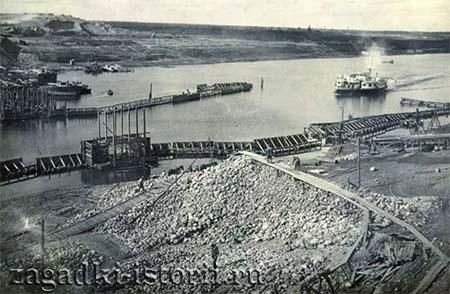 Строительство Рыбинской ГЭС