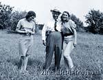 Хрущёв с дочерьми