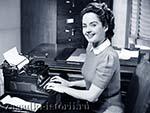 Советская девушка машинистка