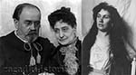 Эмиль Золя с женой Александриной и Жанна Розеро