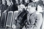 Василий Сталин на церемонии прощания с Иосифом Сталиным