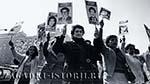 Чилийцы с портретами родственников, погибших или пропавших без вести при диктатуре Пиночета