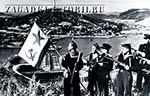 Моряки Тихоокеанского флота водружают флаг над Порт-Артуром