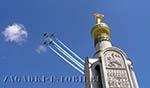 Звонница на Прохоровском поле - символ победы Красной армии на Курской дуге